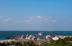 Bay and yachts Royalty Free Stock Photos
