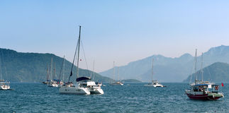 Bay with yachts in Marmaris Stock Photos