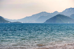 Bay with yachts in Marmaris Royalty Free Stock Images