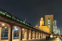 Bay of Yokohama in night scene Stock Image