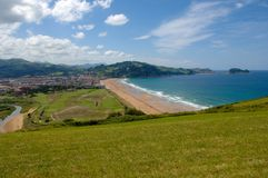 Bay Zarautz Stock Images