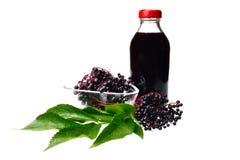 Baya del saúco del zumo de fruta Foto de archivo