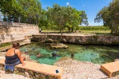 BAYAHIBE, republika dominikańska - MAJ 21, 2017: Naturalny jezioro Obraz Royalty Free