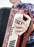 Το άτομο παίζει bayan Στοκ εικόνα με δικαίωμα ελεύθερης χρήσης