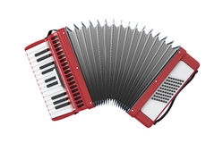 Bayan. Accordion. Bayan isolated on white background. 3d illustration Stock Photos