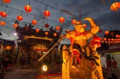 Monkey god statue at outdoor of snake temple during monkey year. BAYAN BARU, PENANG/MALAYSIA – February 02 2016: Monkey god statue at outdoor of snake temple royalty free stock photography