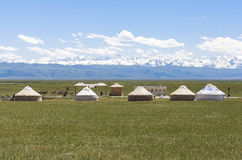 Bayanbulak Grasslands In Xinjiang Stock Photo