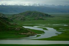 Bayanbulak. Scenery Xinjiang China river Stock Photography