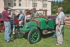 Bayard łagodny samochód datował 1914 przy Brodie Kasztelem. Fotografia Royalty Free