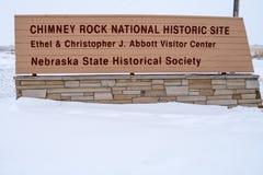 BAYARD, NE: Der Kamin-Felsen nationales Histori lizenzfreie stockbilder