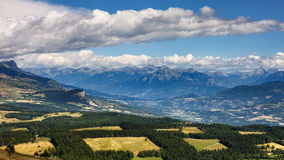 Bayard plateau, Uroczysty Morgon Neuve i Batie, Alps, Francja Zdjęcie Royalty Free