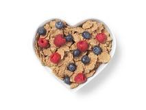 Bayas en forma de corazón del cereal del salvado - imagen común Foto de archivo