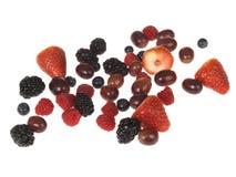 Bayas mezcladas de la fruta Foto de archivo libre de regalías