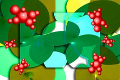 Bayas rojas gráficas Foto de archivo libre de regalías