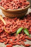 Bayas rojas secas del goji Imagen de archivo