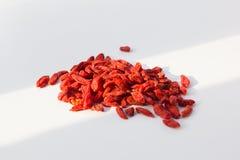 Bayas rojas secas del goji Imágenes de archivo libres de regalías