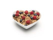 Bayas sanas del cereal del corazón - imagen común Imagenes de archivo