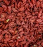 Bayas secadas rojas del goji Foto de archivo