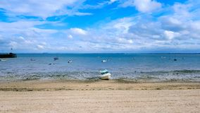 The baye of Cancale at low tide royalty free stock image