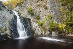 Bayehon Waterfall Long Exposure, Belgium Royalty Free Stock Image