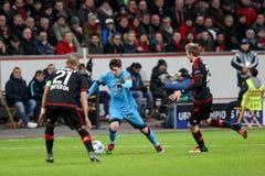 Bayer 04 Λεβερκούζεν εναντίον της Βαρκελώνης Champions League Στοκ Φωτογραφία