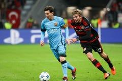 Bayer 04 Λεβερκούζεν εναντίον της Βαρκελώνης Champions League Στοκ Εικόνα