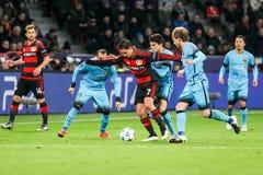 Bayer 04 Леверкузен против Барселоны Champions лига Стоковые Фото