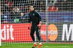Bayer 04 Леверкузен против Барселоны Champions лига Стоковая Фотография