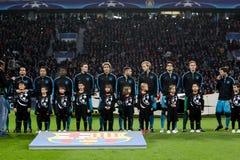 Bayer 04 Леверкузен против Барселоны Champions лига Стоковое Фото