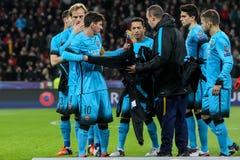 Bayer 04 Леверкузен против Барселоны Champions лига Стоковое фото RF