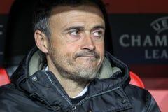 Bayer 04 Леверкузен против Барселоны Champions лига Стоковые Изображения RF
