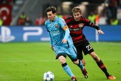 Bayer 04 Леверкузен против Барселоны Champions лига Стоковая Фотография RF
