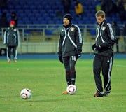 Bayer 04 Leverkusen players warming-up Stock Photos