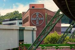 The Bayer AG plants located in Wuppertal Elberfeld stock images
