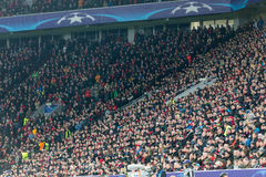 Bayer fans celebrating for their team during the match of the C Royalty Free Stock Photo