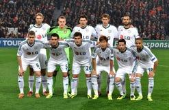 Bayer 04 het team van Leverkusen Stock Fotografie