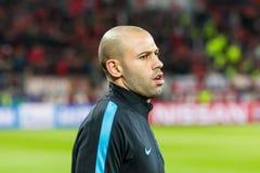 Bayer 04 Leverkusen contra Barcelona defiende a la liga Fotos de archivo libres de regalías