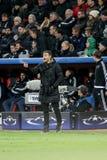 Bayer 04 Leverkusen contra Barcelona patrocina a liga Fotografia de Stock Royalty Free