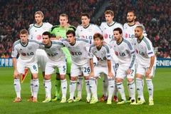 Bayer Leverkusen dei giocatori Immagine Stock Libera da Diritti