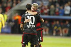 Bayer Leverkusen del alhanoÄŸlu del ‡ de Hakan à de la meta Imagenes de archivo