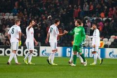 Bayer Leverkusen dos jogadores Fotografia de Stock Royalty Free