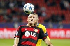 Bayer Leverkusen dos poulos do ³ de Papadà dos kos do ¡ de Kyrià Foto de Stock Royalty Free