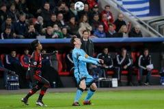 Bayer 04 Leverkusen gegen Barcelona verficht Liga Stockbilder