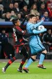 Bayer 04 Leverkusen gegen Barcelona verficht Liga Stockfotografie