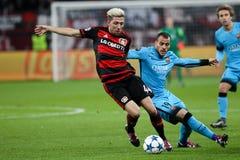 Bayer 04 Leverkusen vs Barcelona champions league Zdjęcia Royalty Free