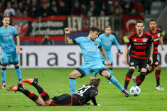 Bayer 04 Leverkusen vs Barcelona champions league Obraz Stock