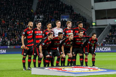 Bayer 04 Leverkusen vs Barcelona Champions League Royalty Free Stock Photos