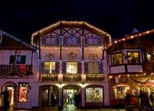Bayerische Gebäude-Weihnachtsfeiertags-hastige Geschäftigkeit Lizenzfreie Stockfotografie