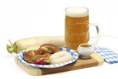 Bayerische Kalbfleisch-Wurst Lizenzfreies Stockfoto