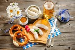 Bayerische Kalbfleischwurst Stockfotografie